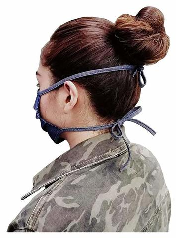 reusable face mask with tie backs